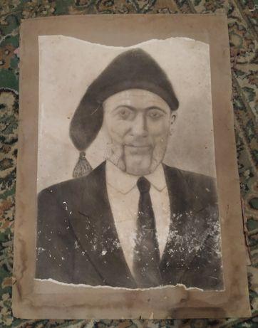 Pintura de retrato antiga