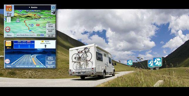GPS 100% NOVOS Autocaravana / Caravana - Mapa Europa, Garantia 2 Anos