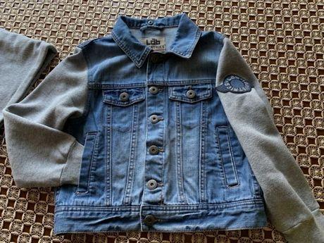 Kurtka, ramoneska jeansowa dla dziewczynki 134