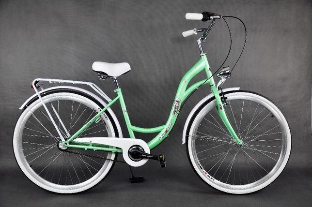 """Nowy rower (MIEJSKI/DAMSKI) Mexller Village 3-biegowy 28"""" pistacjowy"""