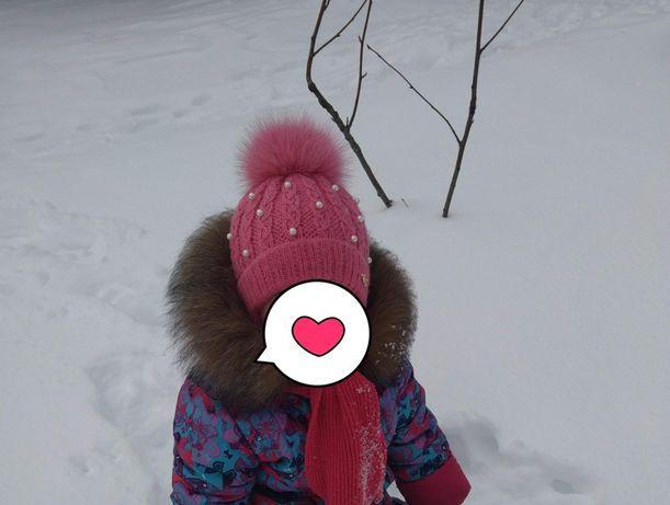 Шапка зима теплая для девочки