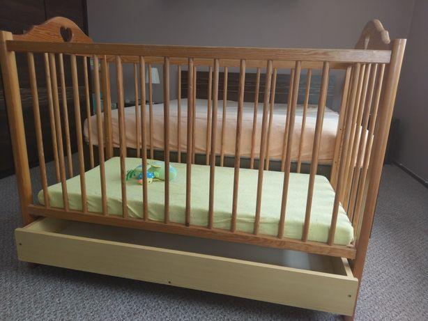 Łóżeczko drewniane 60x120