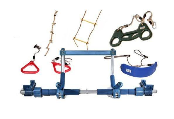 nowy zestaw do ćwiczeń siłownia dla dzieci bujaczka, drążek, drabinka