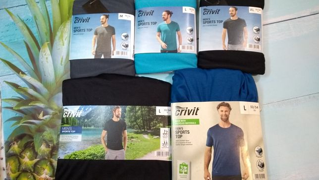 Мужские футболки для спорта Crivit