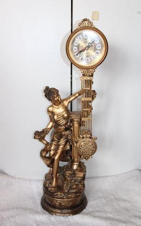 zegar stojący figura kobieta złoty złoto retro apart yes kruk festina