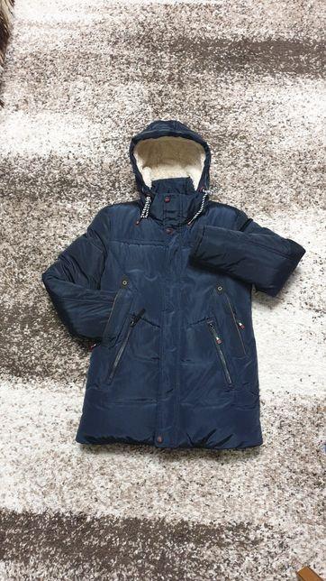 Куртка зимняя на мальчика рост 158 см
