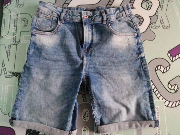 RESERVED modne bermudy jeans spodenki r. 164