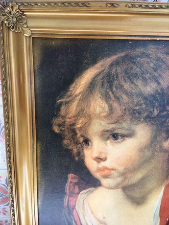 Quadro para parede motivo: menino da lágrima.
