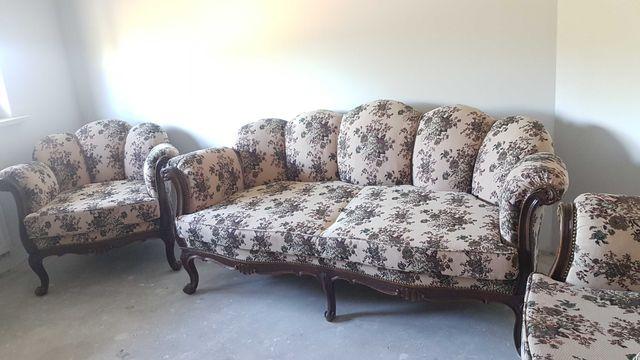 sofa i dwa fotele antyki