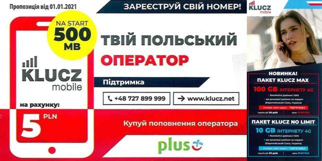 Польский стартовый пакет с активацией в Украине