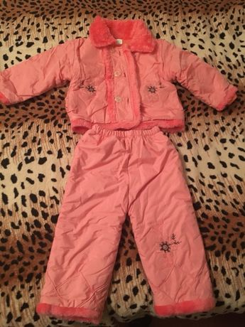 Тёплый костюм детский на 1-3года