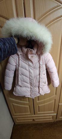 Детское теплое зимнее пальто на девочку куртка 104 Lebo junior