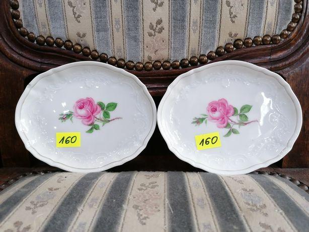 Dwa piękne porcelanowe talerzyki salaterki Miśnia