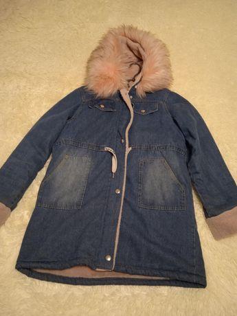 Куртка парка джинсова тепла