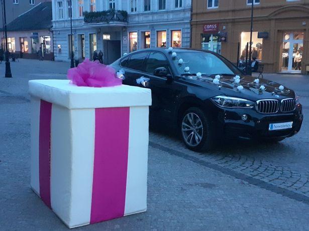 Balonowe pudło na ślub balony hel prezent balon! Napis LOVE led!