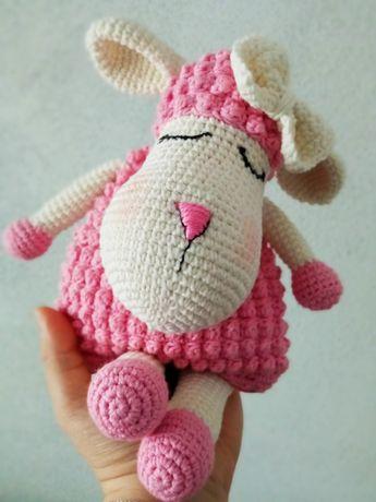 Maskotka owieczka, termofor z pestek wiśni