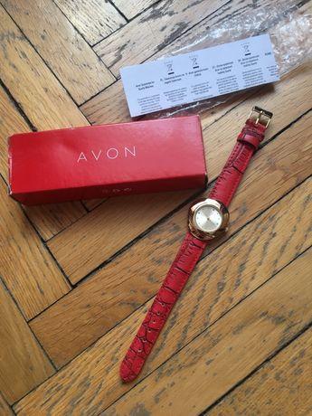Zegarek damski Avon czerwony pasek