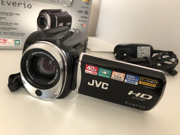 Kamera JVC idealna z pamięcią 120 GB 40x zoom