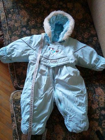 Зимний комбинезон Lenne голубой идеальное состояние + шапочка подарок