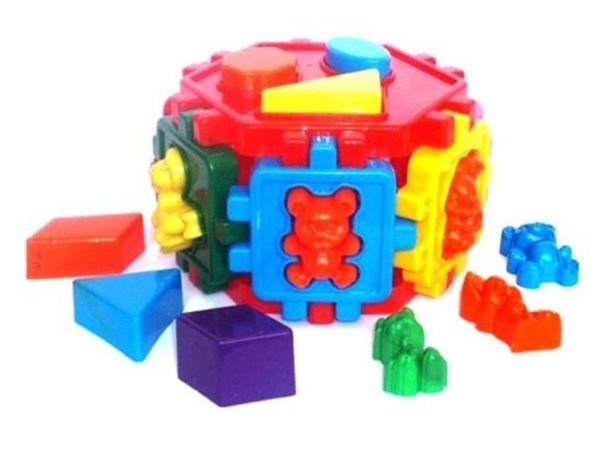 Шестигранник сортер животные + геометрические фигуры