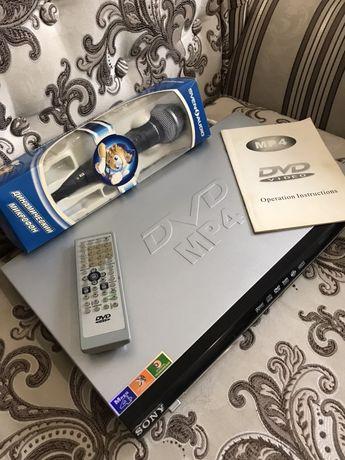 Sony Dvd видео плеер MP4/караоке и микрафон в подарок