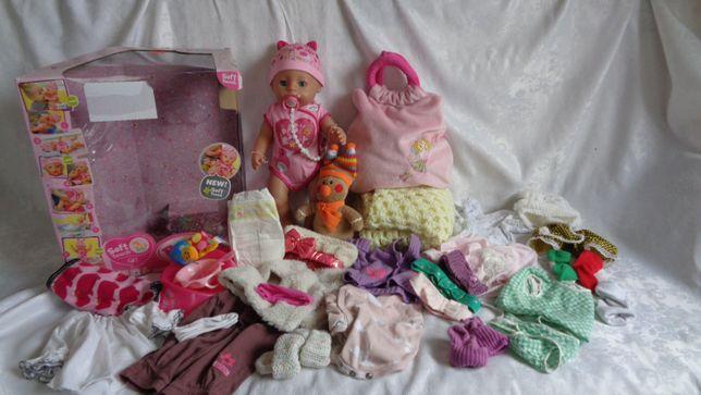NIEUŻYWANA Lalka Baby Born SOFT+ Akcesoria + ZESTAW ciuszków