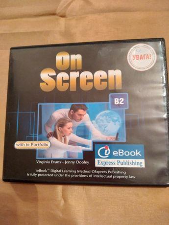 """Оригинальный диск к учебнику """"On Screen B2""""для учеников 9-10 классов."""