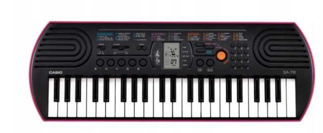 Keyboard Casio SA-78, ZASILANIE BATERYJNE, Okazja!