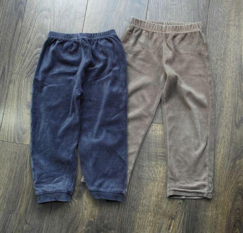 2 pary welurowych spodni 104