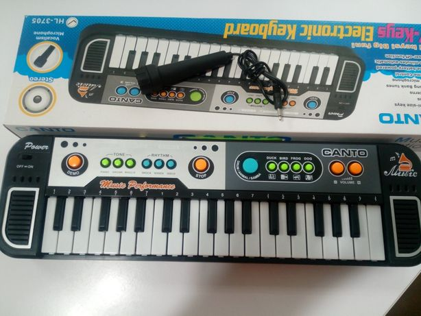Keyboard Organy z Mikrofonem 37 Klawiszy