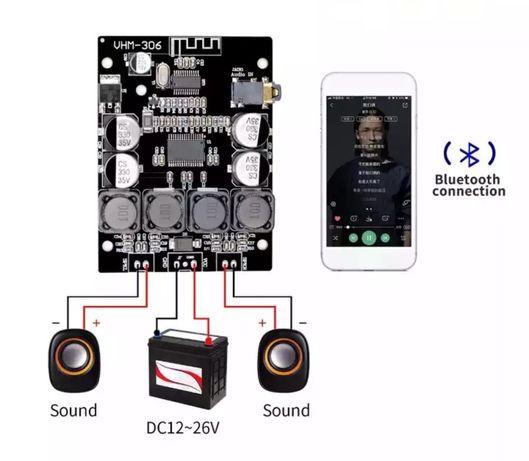 Цифровой усилитель мощности Bluetooth, AUX,TPA3118, 2x30W, DC12-26 в,
