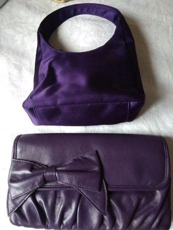 Сумка и клатч фиолетовые