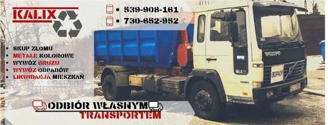 Wywóz gruzu, odpadów, kontenery,