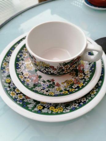 Zestaw śniadaniowy porcelana sygnowana Schonwald Germany, filiżanka