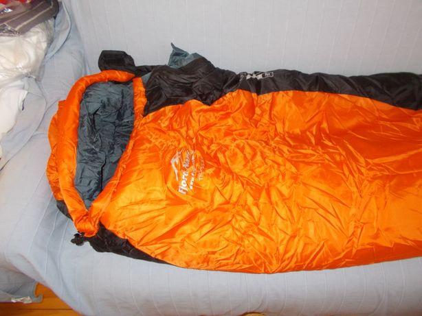 Troms XL left Śpiwór Fjord Nansen survival bushcraft pomarańczowy