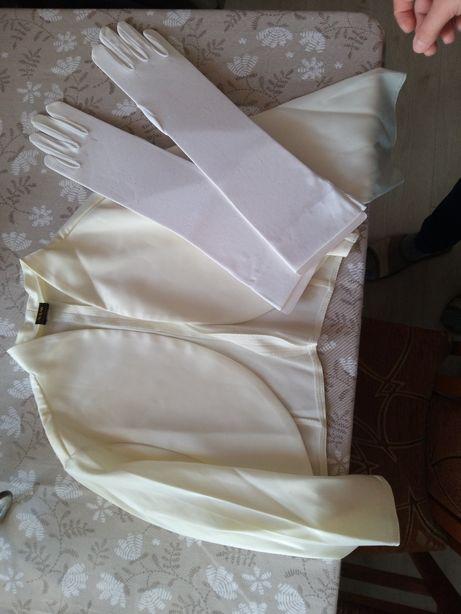 Bolerko i rękawiczki do ślubu