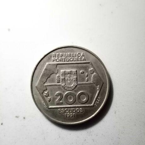 200$00 de 1991 - Navegação para Ocidente