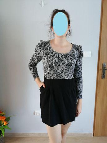 Sukienka mini z kieszeniami r. 40
