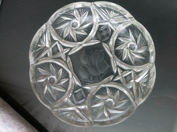Piękne talerze kryształowe komplet 4 szt %%% tanio kryształ