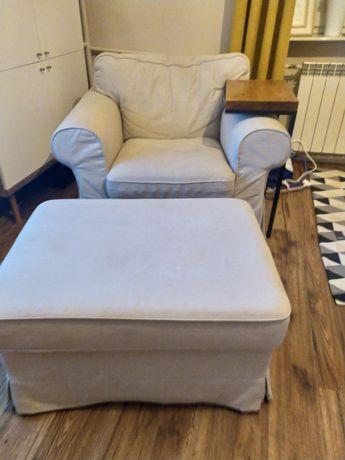 Fotel z podnóżkiem Ikea ektorp