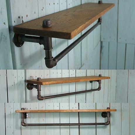 №1 Полка в стиле loft Industrial мебель лофт изделия из труб