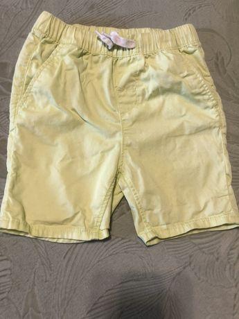 Лимонные шорты на мальчика H&M р.92(большемер)