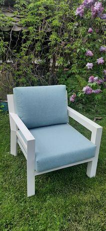 Fotel tarasowy biały