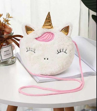 Милый детские сумки для девочек Единорог