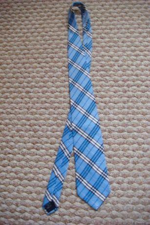 Niebieski krawat w kratkę Burberry