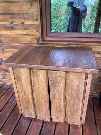 Szafka drewno kolor pik