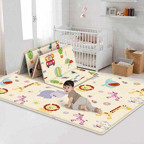 Новинка детский игровой двухсторонний коврик складной 1800х2000