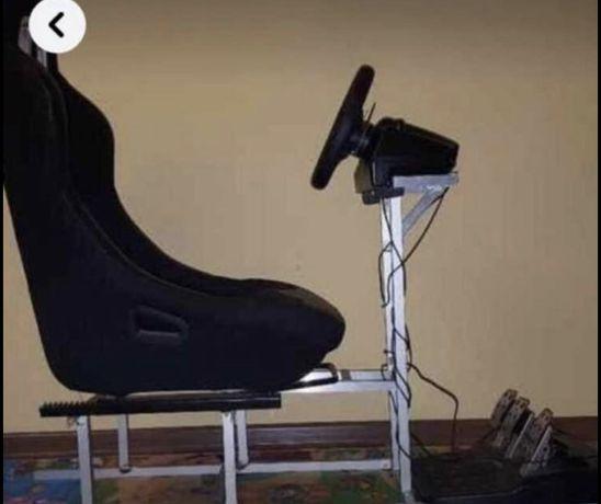 Kierownica + Stojak z fotelem do kierownicy Logitech G29 PS4/PS3/PC  d