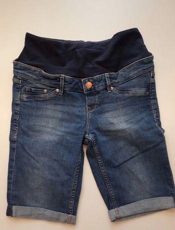 Spodenki szorty ciążowe jeans H&M MAMA r. 36 S