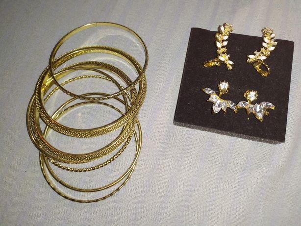 Biżuteria kolczyki bransoletka